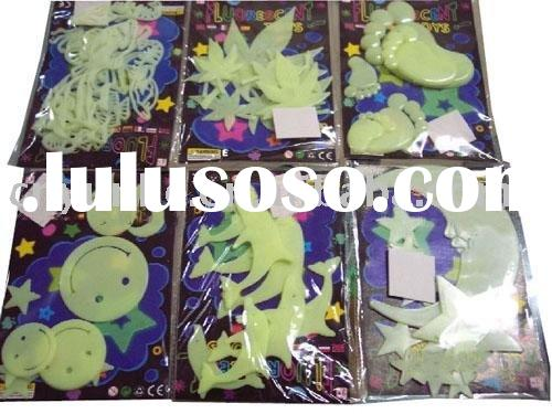 star shape fluorescent magic glow in the dark stickers