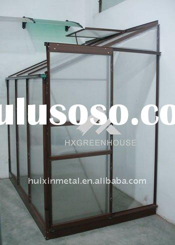twin wall polycarbonate lean-to greenhouse kits/halls popular polycarbonate lean-to greenhouse struc