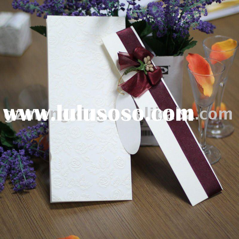 wedding invitation cards/paper draft/wedding decoration -- T081