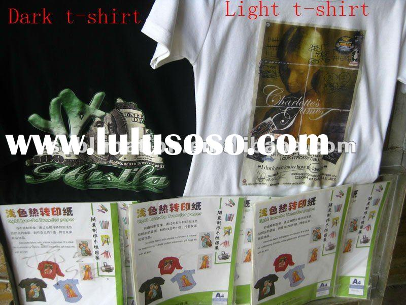 white and dark t-shirt heat transfer paper A4