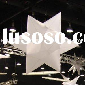 white color inflatable star decoration at stage