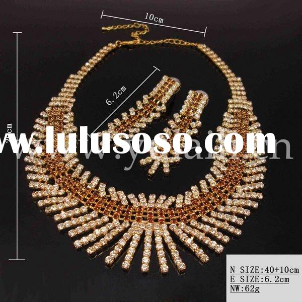 wholesale fashion & charm aloy jewelry set (necklace, bracelet,earring and ring)