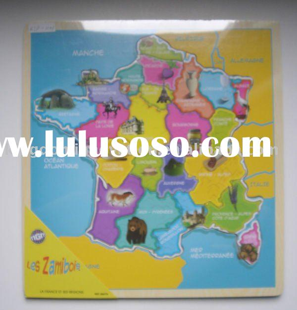 wooden jigsaw puzzle(western Europe map design),map puzzle,wooden jigsaw puzzle,educational toy,wood