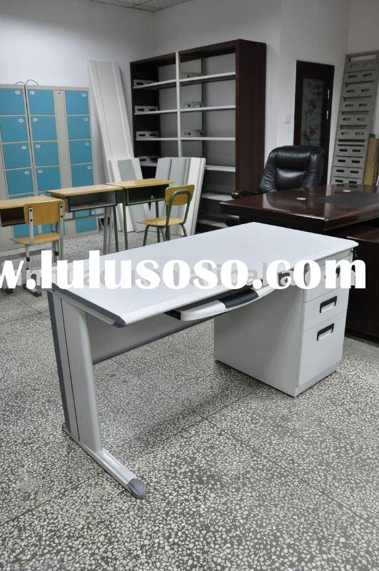 wooden top computer desk with 3 drawers 86-13027627808