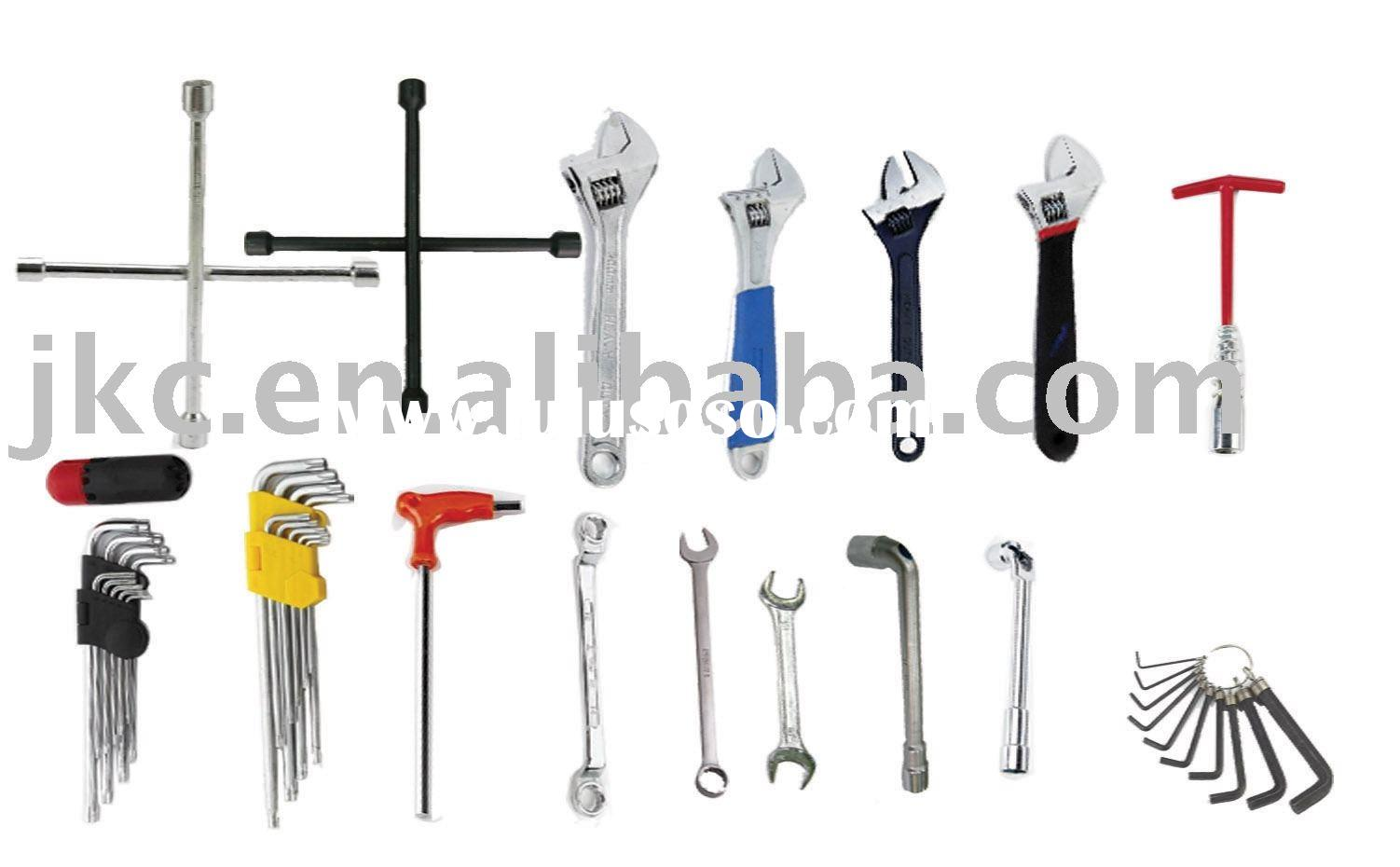 wrench, Cross spanner, Adjustable wrench, Spark plug Spanner