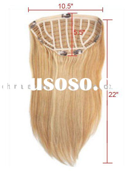 100% human hair ponytail hair extensions long wrap around blonde