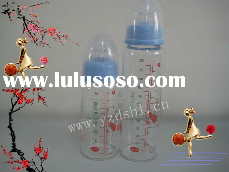 150ml 250ml high-borosilicate glass baby milk feeding bottle