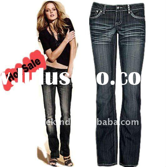 2012 Fashion 100% Organic Cotton Flare Jeans (GF03)