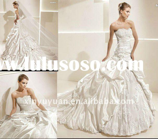 2012 Newest Arrived famous designer Ball Gown wedding dress LSW-214