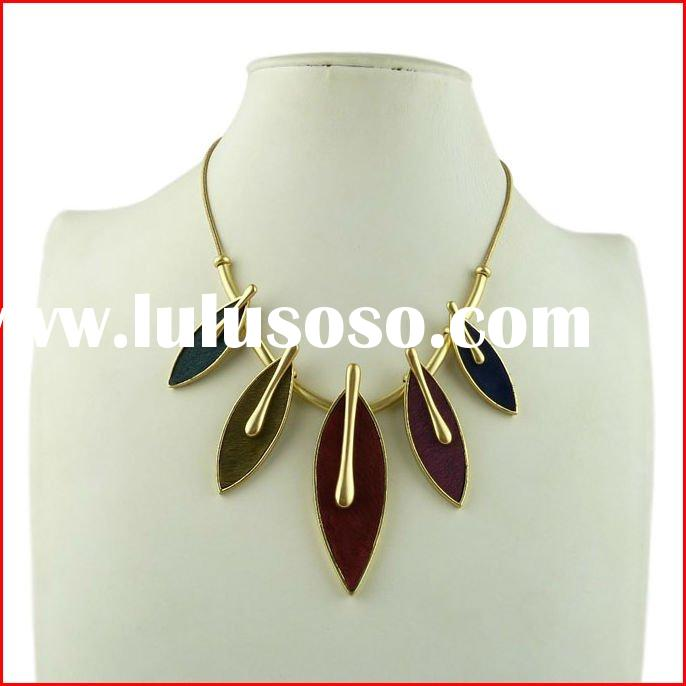 2012 Trendy Alloy Accessories,Leaf Necklace,Chunky Women jewellery