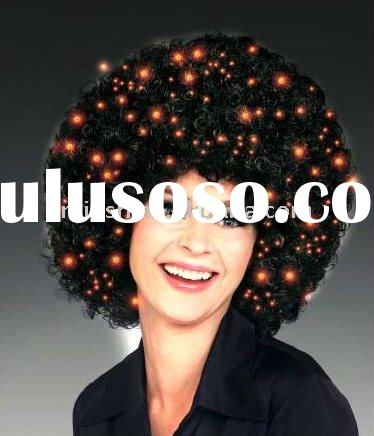 2012 World Cup flashing Football Sports fans cheer team afro Wig Party FBW-0099