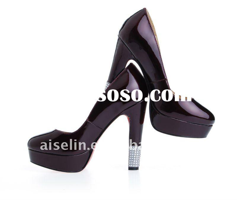 2012 fashionable lady's women shoes with crystal