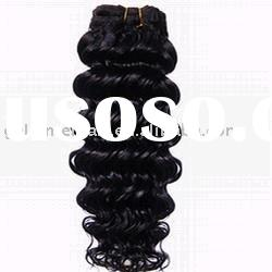 22 inch, 1#, deep wave, human hair extension, remy hair weft
