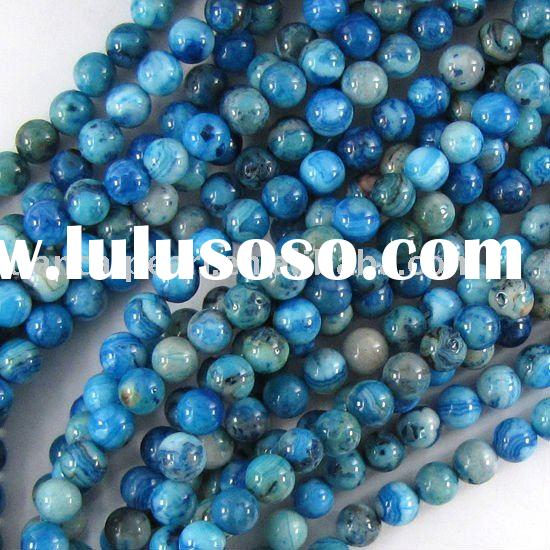 6mm blue crazy lace agate round beads strand Natural Stone Beads Gemstone Semi-Precious Stone&Ge