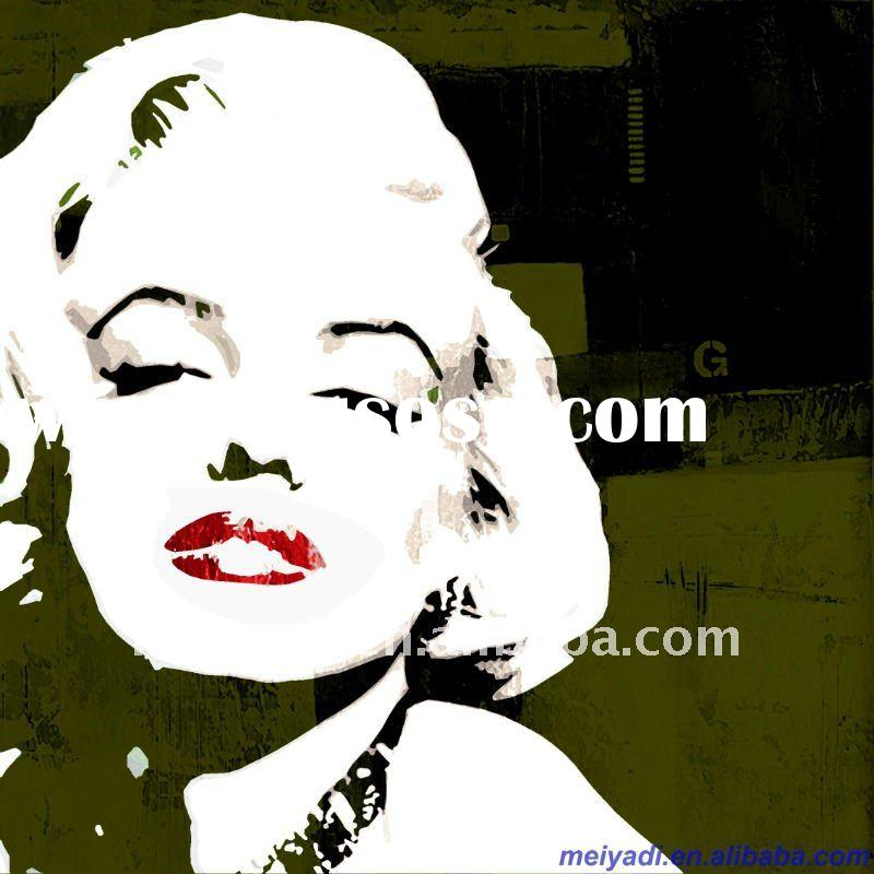 Abstract white and black MarilynMomroe art painting for hotel decoration