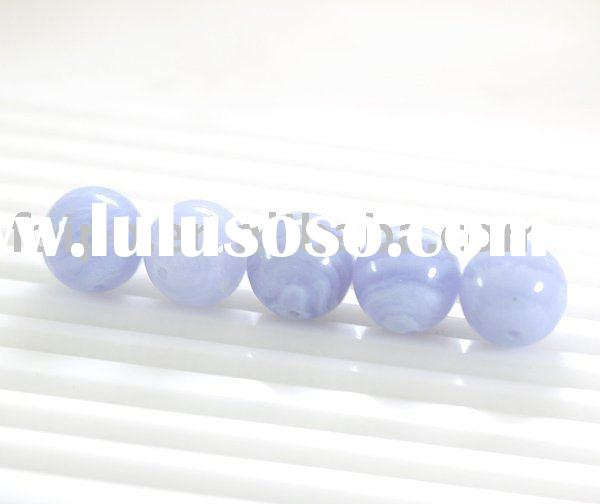 Blue Lace Agate Round Beads/stone bead/fashion bead