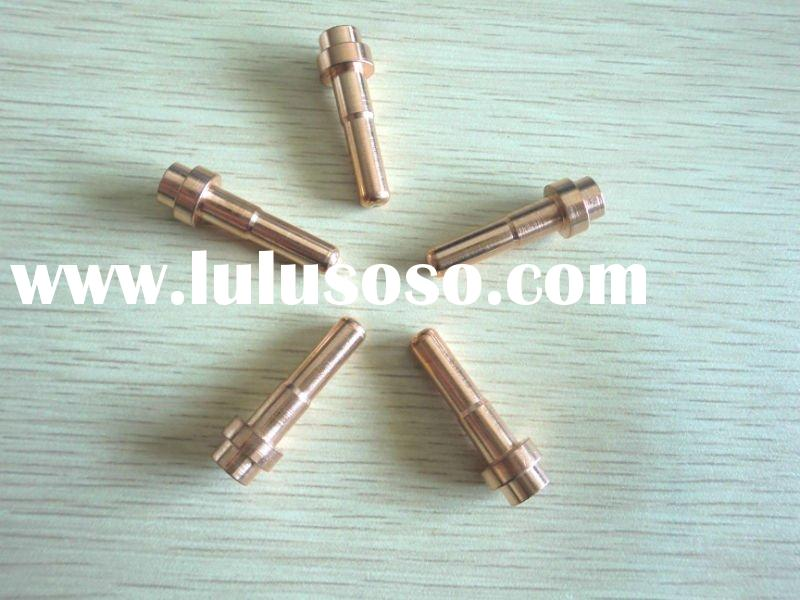 Copper contact tips for mig welding torch