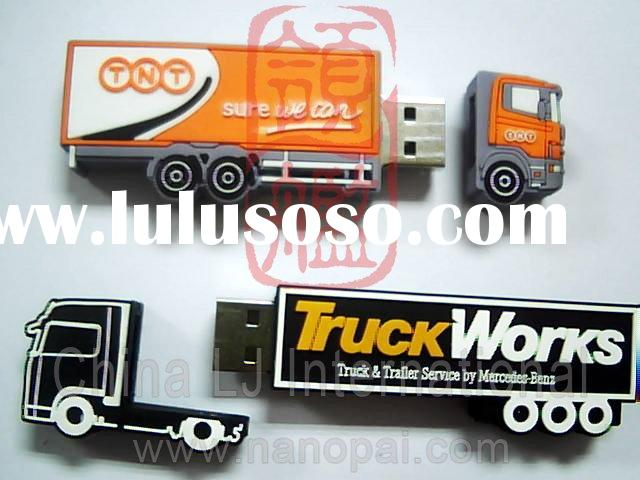 Car shape promotional gift usb drive, express truck usb flash drive