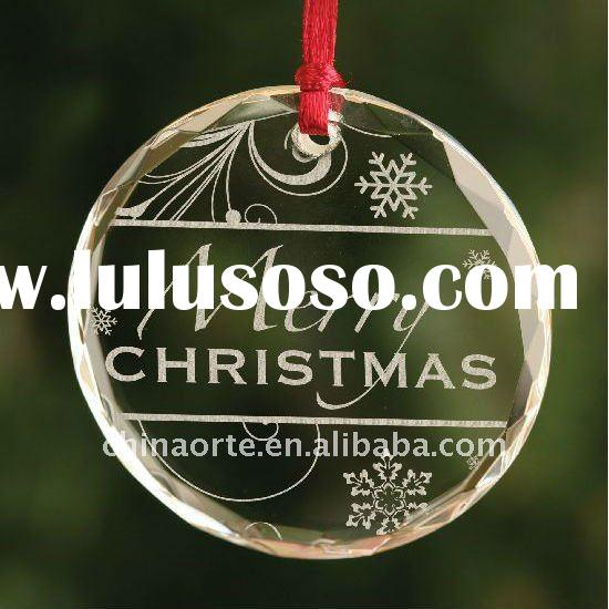 Clear Glass Christmas Tree Ornaments For Decoration & Gifts