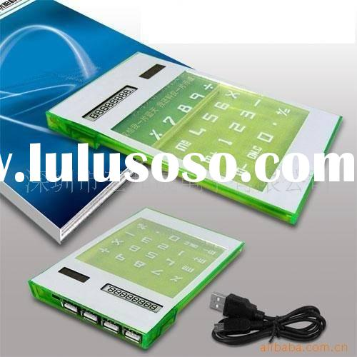 Electronic gift mini transparent solar calculator