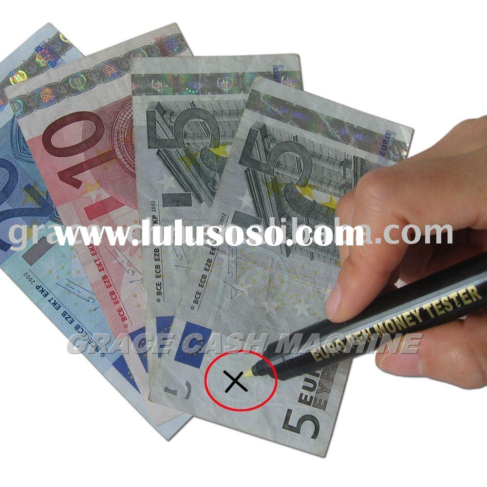 how to tell if money is fake with pen