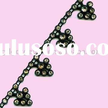 Fancy Rhinestone Trimming, rhinestone chain