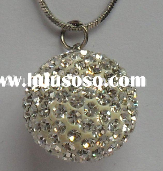 Fashion Necklace,Fashion Accessories with 18mm Ferido Crystal Ball Pendant NE0009