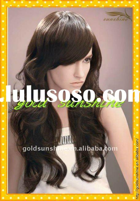 Fashion super wave malaysian human hair full lace wig accept paypal
