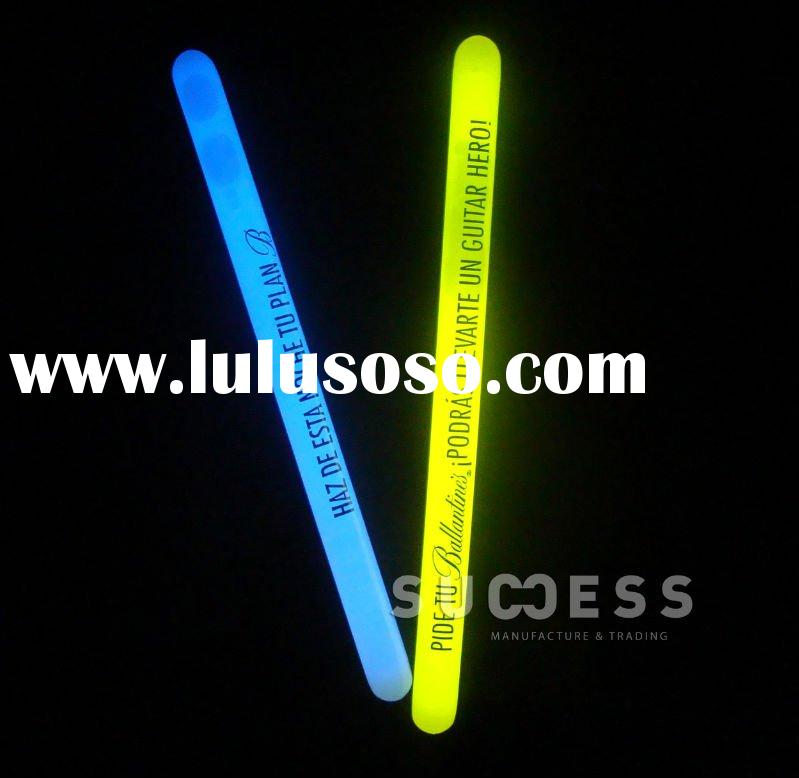 Fluorescent glow in the dark light stick product
