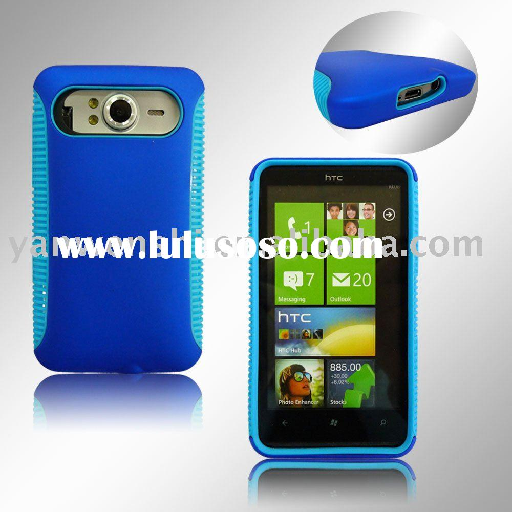 For HTC HD7 Cell Phone Case (Best Combination of TPU case and Crystal Case)