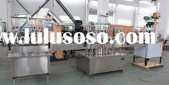 Glass bottle beer fillling plant / packing machine