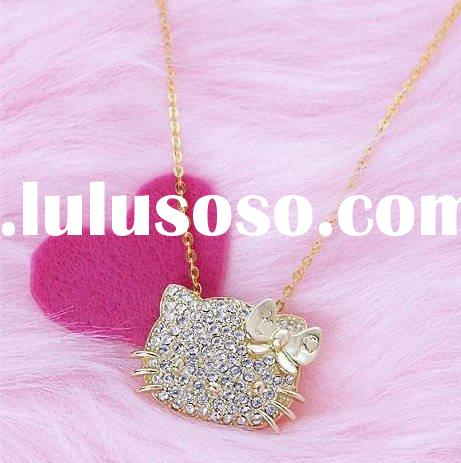 Hello Kitty necklace / fashion jewelry/ alloy /diamond accessory