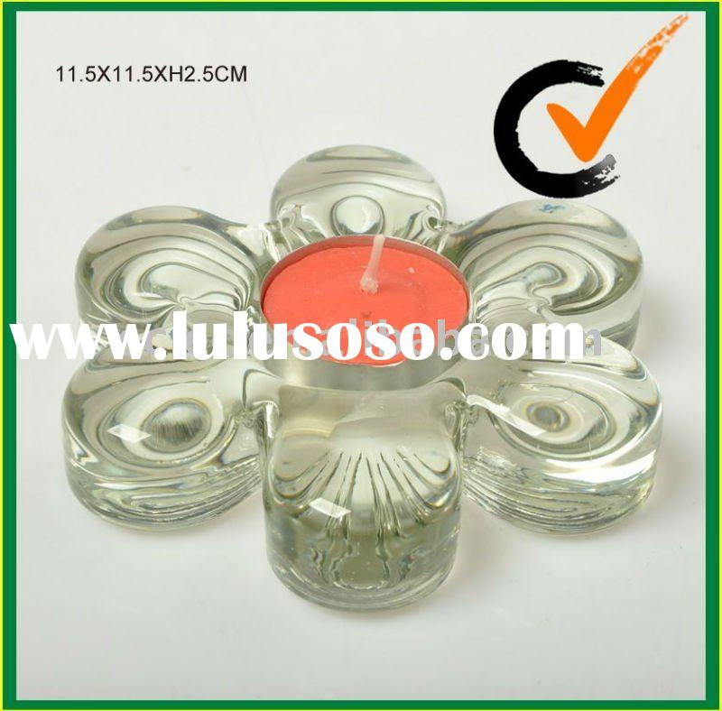 Home decoration glassware glass candle holder