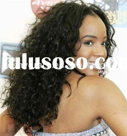 Jerry curl brazilian human hair full lace wig