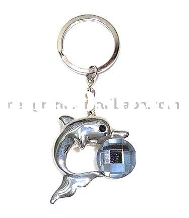 Jewellery,jewelry,Ocean jewelry,fashion accessories.Key chain,bag charm with dolphin charm-K00303