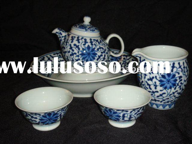 Jingdezhen ceramic blue and white tea set