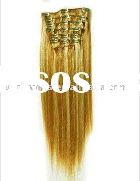 Keratin & Human Hair Extensions Clip In