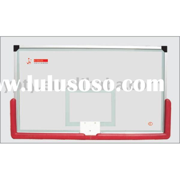 Laminated safe glass basketball backboard