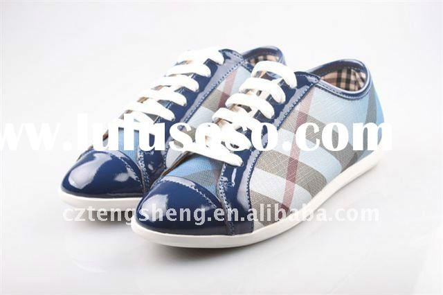 MOQ1(Free shipping)-Genuine Leather Lady Latest Design Dossy Sport Shoes,111107