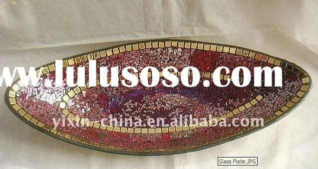 Mosaic Glass Plate for Home Decoration