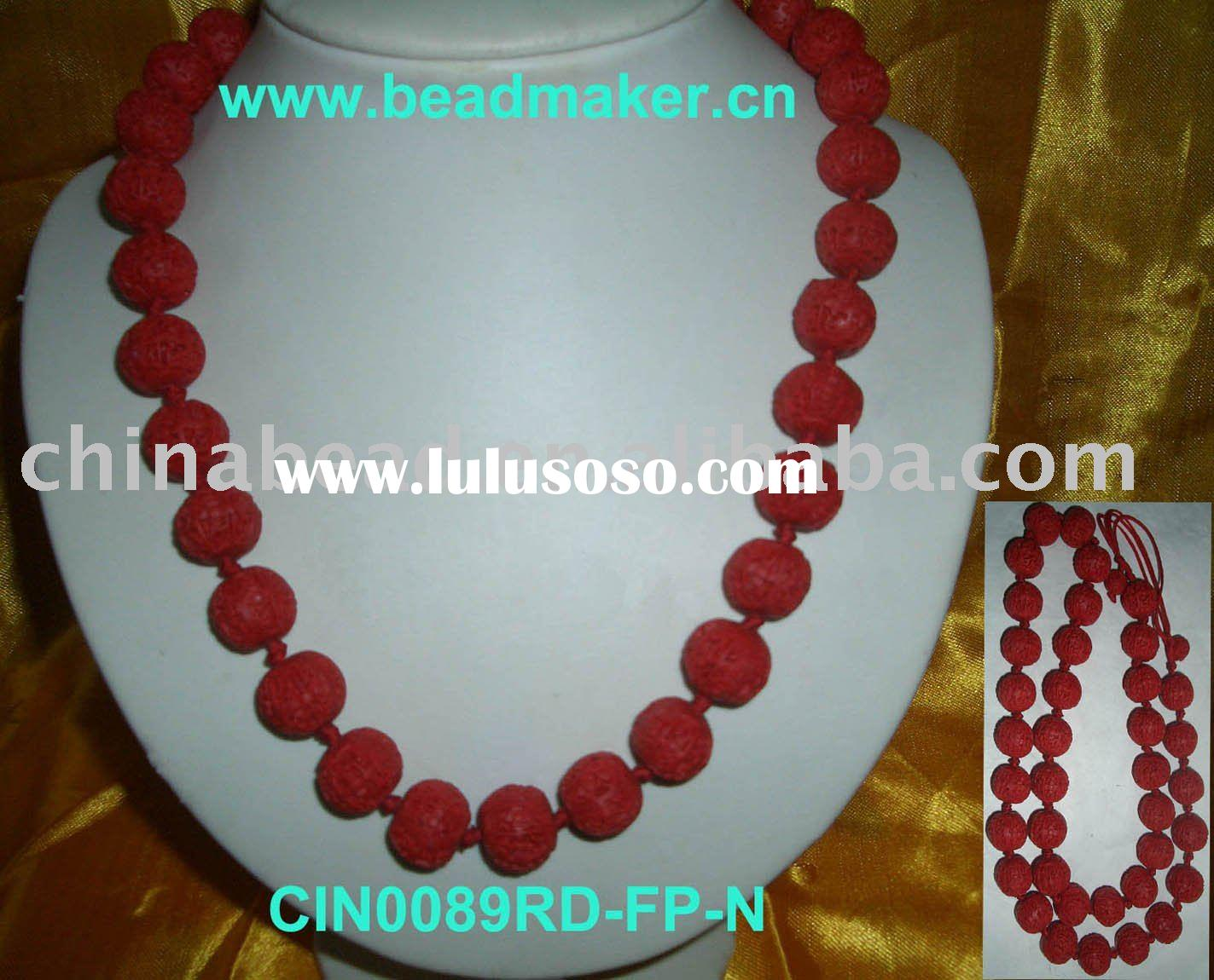 Necklace 2011 Hot selling handmade coral fashion beads necklaces the latest red fashion cinnabar bea