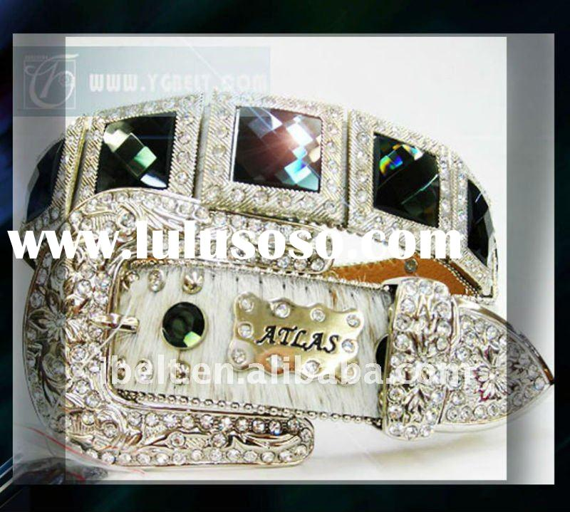New Unique Design Genuine Leather Belt For Ladies With Diamond YG101024
