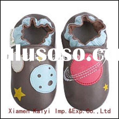 New design baby leather shoes