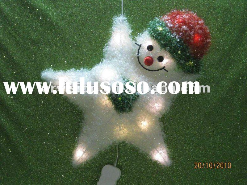Outdoor Christmas decoration stars with lights