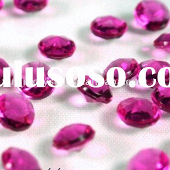 Plum Acrylic Table Diamonds Scatters Wedding Table Decoration