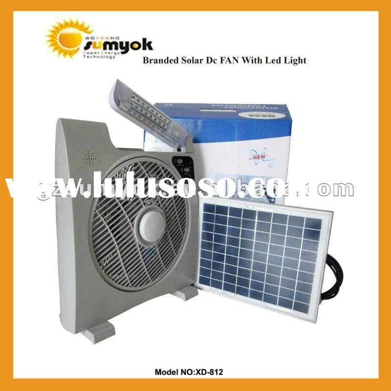 Solar Portable Fan with LED Light-Portable Solar DC Fan