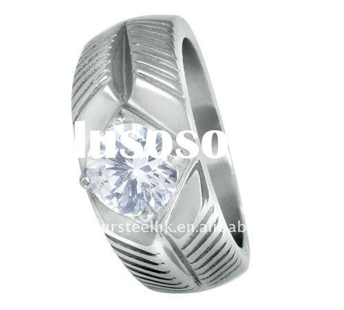 Stylish and eminent stainless steel ring with cz in diamond cut perfect gift for memoriable occasion