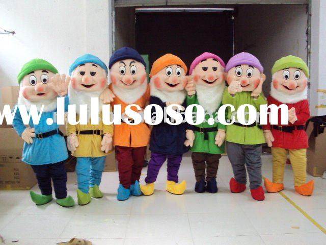 The 7 dwarves from Snow White Mascot costumes/Mascot fancy dress MAE-0029