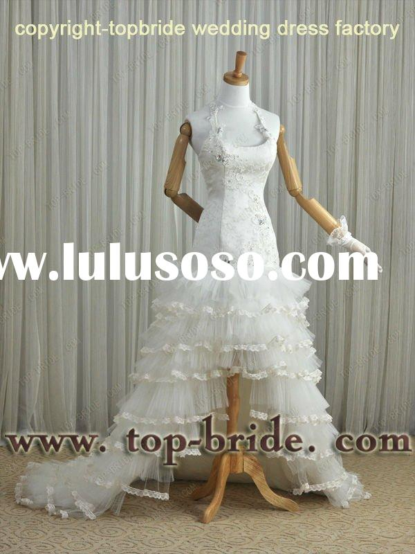 VIC123 REAL SAMPLE Bridal OEM FACTORY Wedding 2012 Short Front Long Back Dress