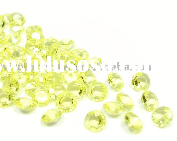 Yellow Acrylic Diamond Tables Crystals Scatters Table Decoration Favors